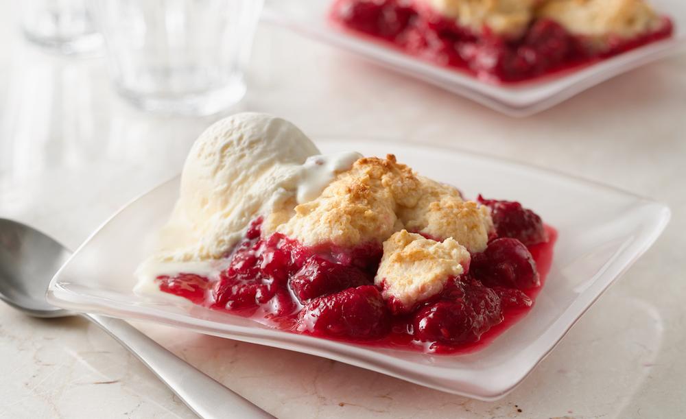 Fresh Raspberry Cobbler | Tony Kubat Photography
