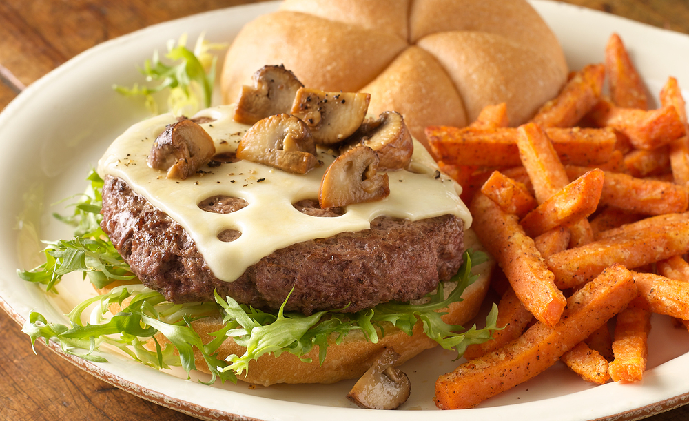 Mushroom Swiss Burger | Tony Kubat Photography