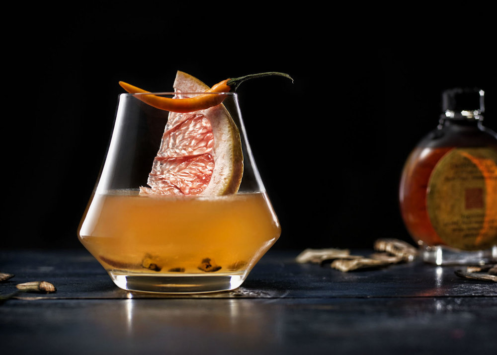 Thai Chili & Grapefruit Infused Bourbon