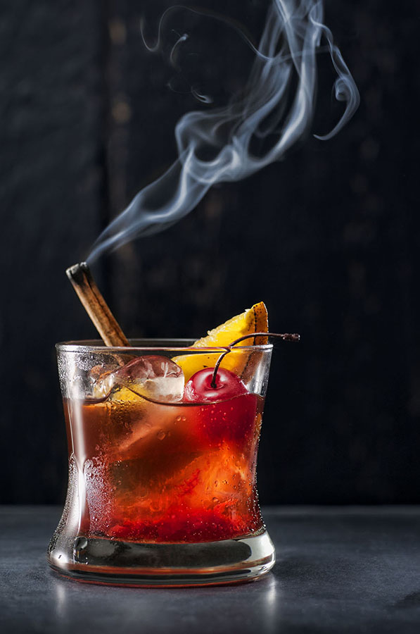 Cinnamon Cherry Infused Old Fashioned