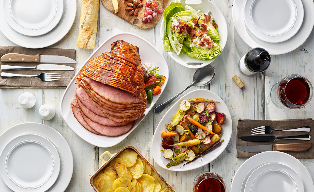 Ham Dinner Spread | Tony Kubat Photography