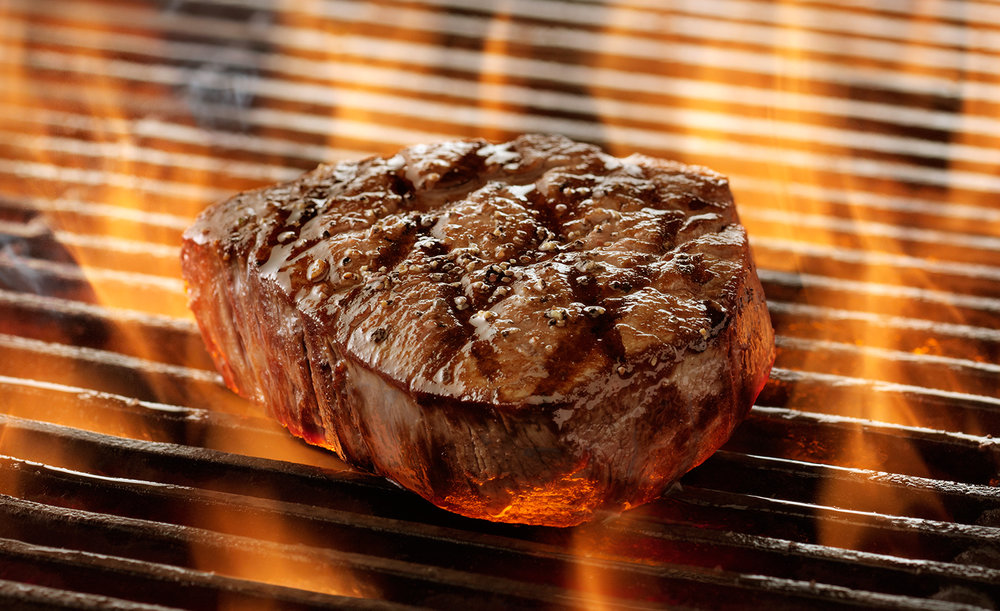 Flame Grilled Steak | Tony Kubat Photography
