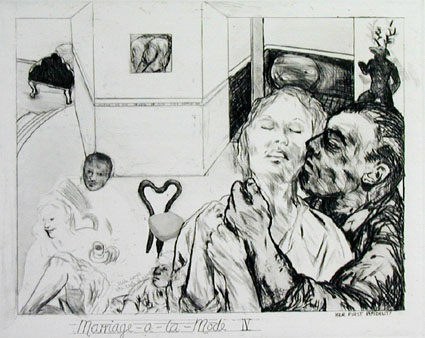 Hogarth Portfolio: Marriage-a-la-mode IV - Her first infidelity - Deborah Bell