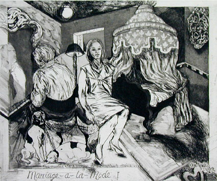 Hogarth Portfolio: Marriage a la Mode I - She marries the lawyer of her mother's choice - Deborah Bell