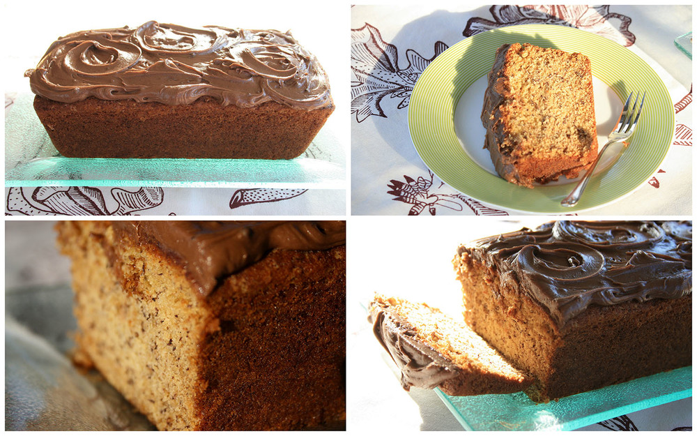 Banana Loaf with Peanut Butter -  Chocolate   Icing