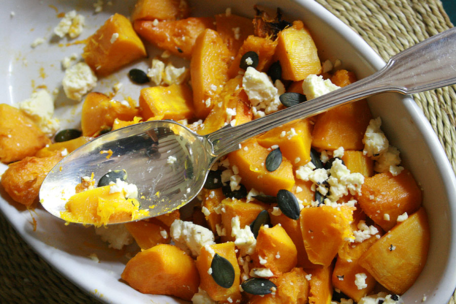 Butternut with Feta & Pumpkin Seeds