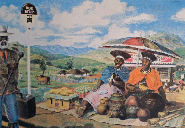 Sthembiso Sibisi      Welcome to KwaZulu     1997     screenprint/lithograph