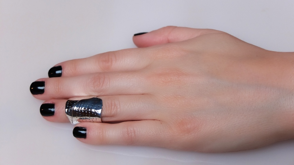 Womens Sterling Silver Knuckle Band-Aid Rings