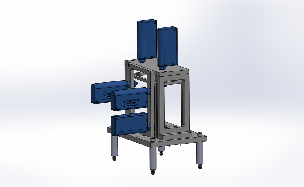 CAD of the active grating alignment module - actual photos from the panter test can be seen here
