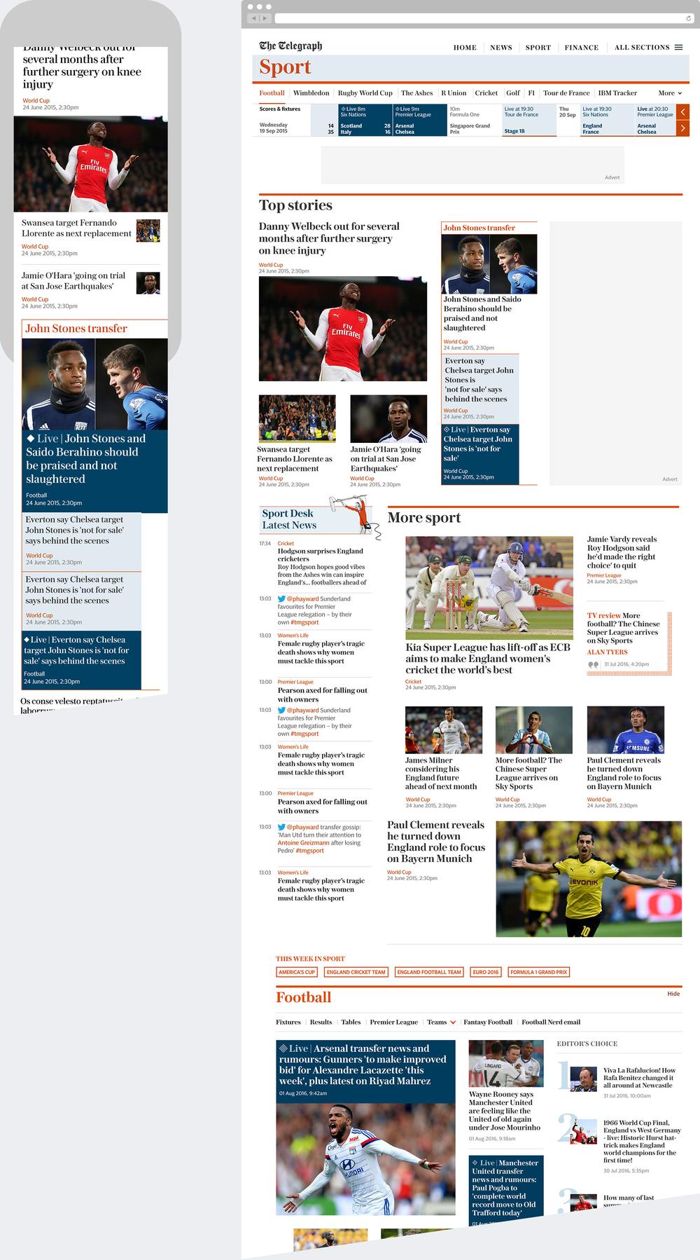 Sport Hub Page