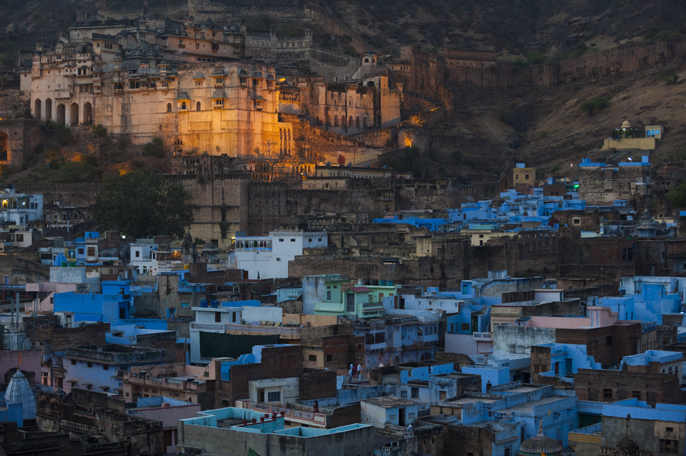 Blue Bundi  Rajasthan, India