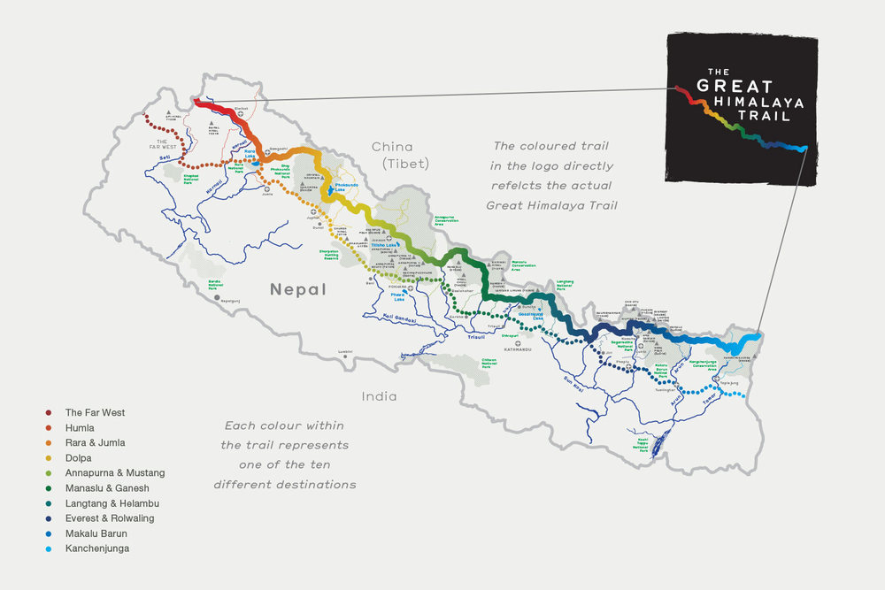Great Himalaya Trail map