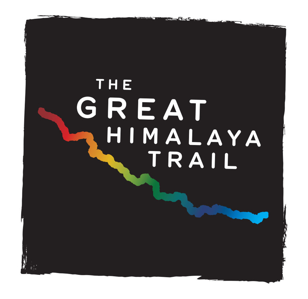 The Great Himalaya Trail logo incorporates a simplified map of the actual Great Himalaya Trail which passes through Nepal. It has been designed in ten vibrant colours which merge into each other as they pass through the ten destinations along the trail.