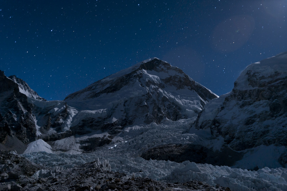 Head torches  Everest base camp