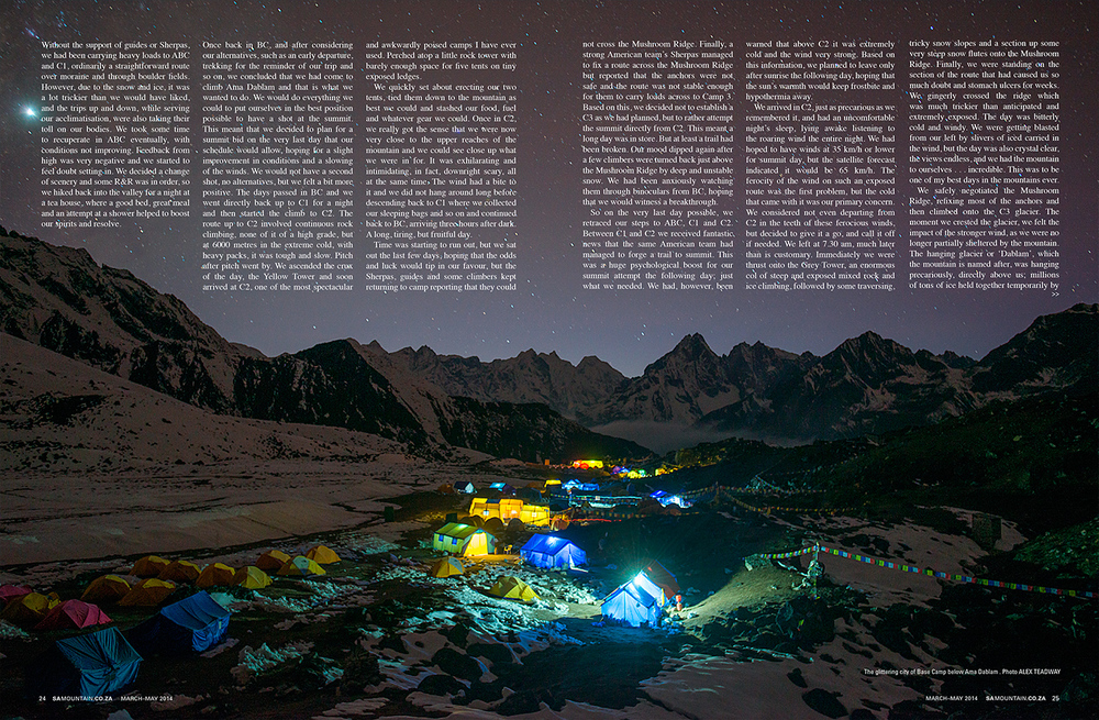 SA Mountain Magazine, March-May 2014