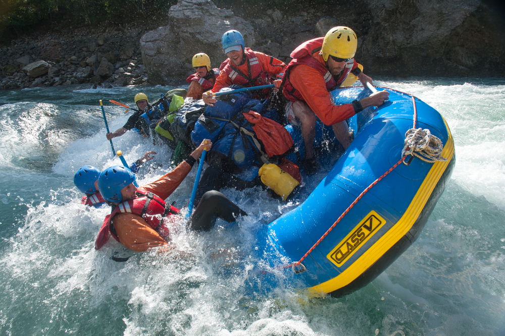 FISH FOOD – A raft loses control going through Flip N' Strip, one of the Karnali's more challenging rapids. There's only one way this is going to end.