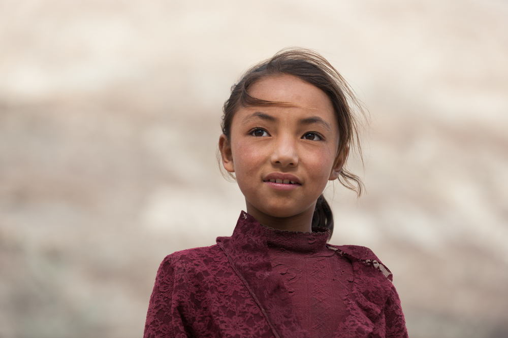 India - Ladakh   A girl in the Nubra valley in Ladakh, one of the most isolated places in the world. The prospects for girls in these traditionally more liberal communities may be better than in many parts of India.