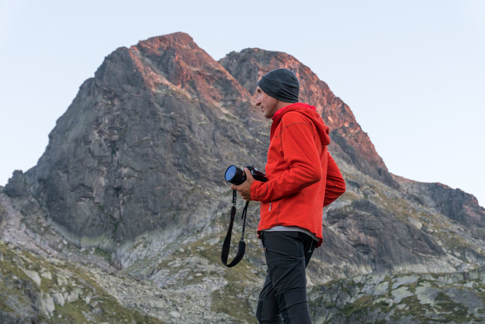 Alex on assignment in the Rila mountains in Bulgaria, August 2017.