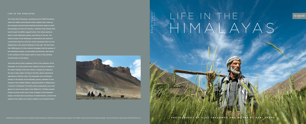 'Life in the Himalayas' coffee table book. Published by ICIMOD