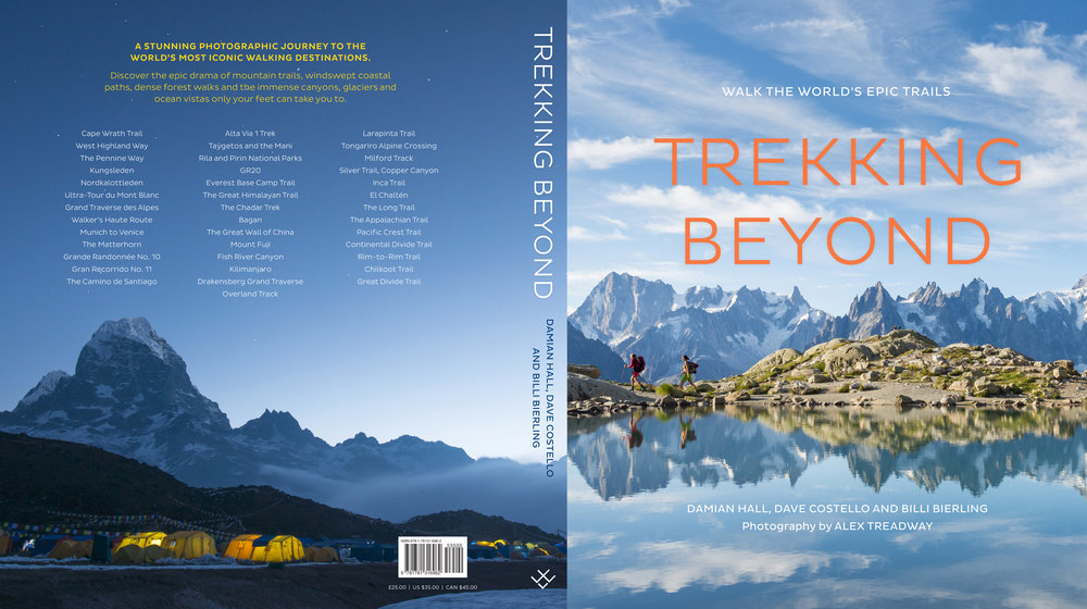 'Trekking Beyond' coffee table book.  Published in 2018 by Aurum Press.