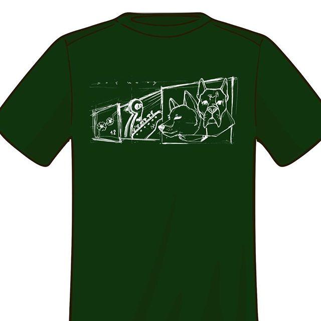Mandu and Temo featured on the Dogwood t-shirt! #dogwoodduo #telecaster #shibainu #dogs