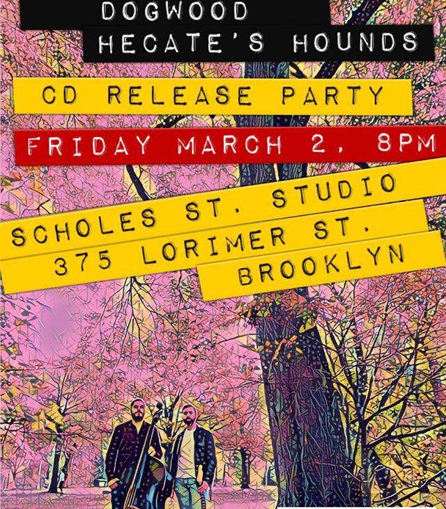 This Friday! #dogwoodduo #livemusic #brooklyn