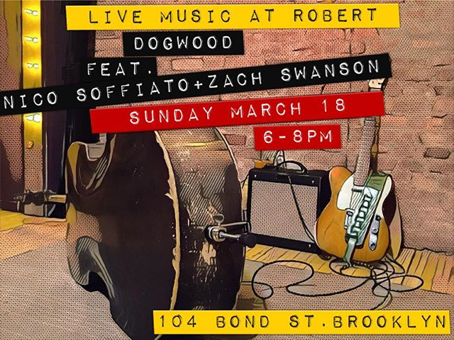 Tomorrow! #dogwoodduo #livemusic #brooklyn