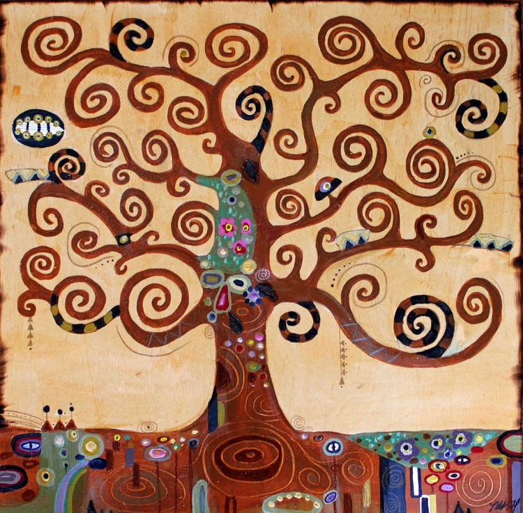 Klimt Tree Of Life Art Lesson Kyle Art on Wood jpg
