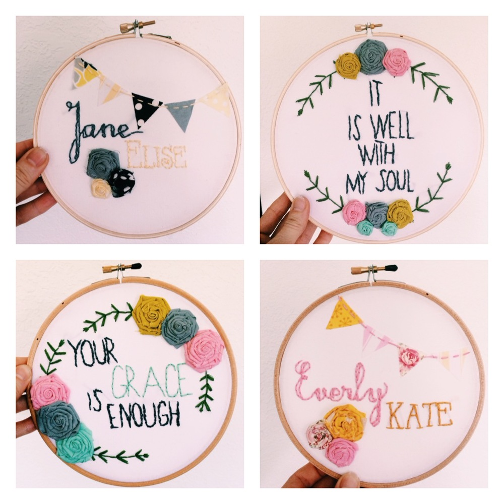 How To Make An Easy Embroidery Hoop The Bloom Print Project