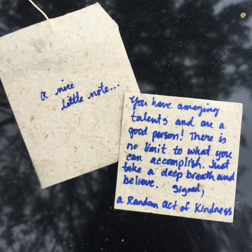 Here is the note that inspired it all - the one I found on my car.