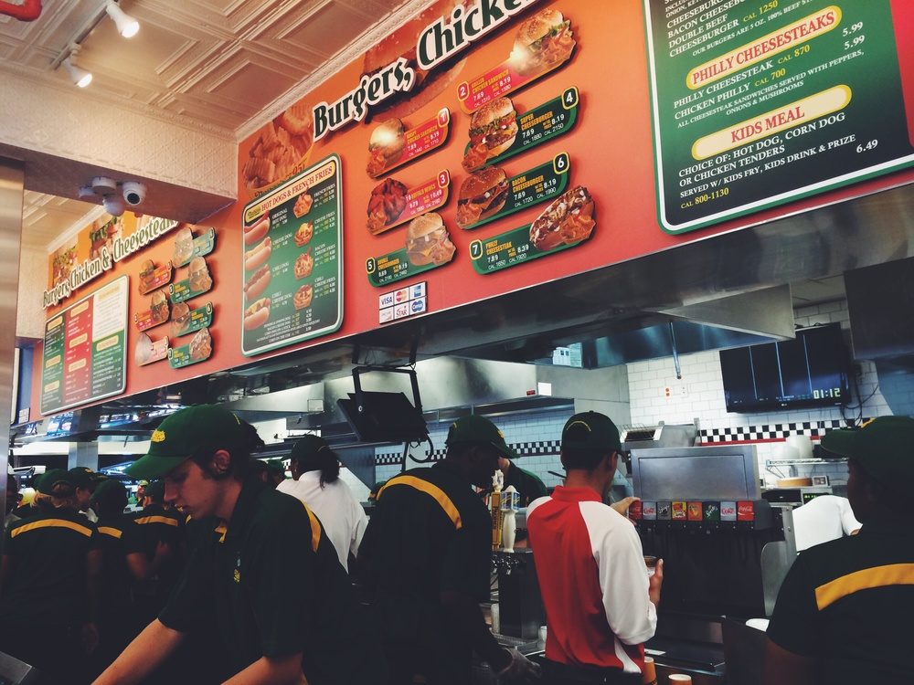 Nathan's on Coney Island after the competition | Photo: Celine Asril