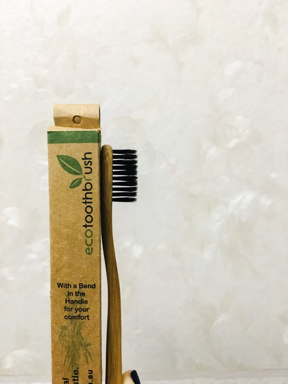 Toothbrushes made out of bamboo, enhanced with charcoal