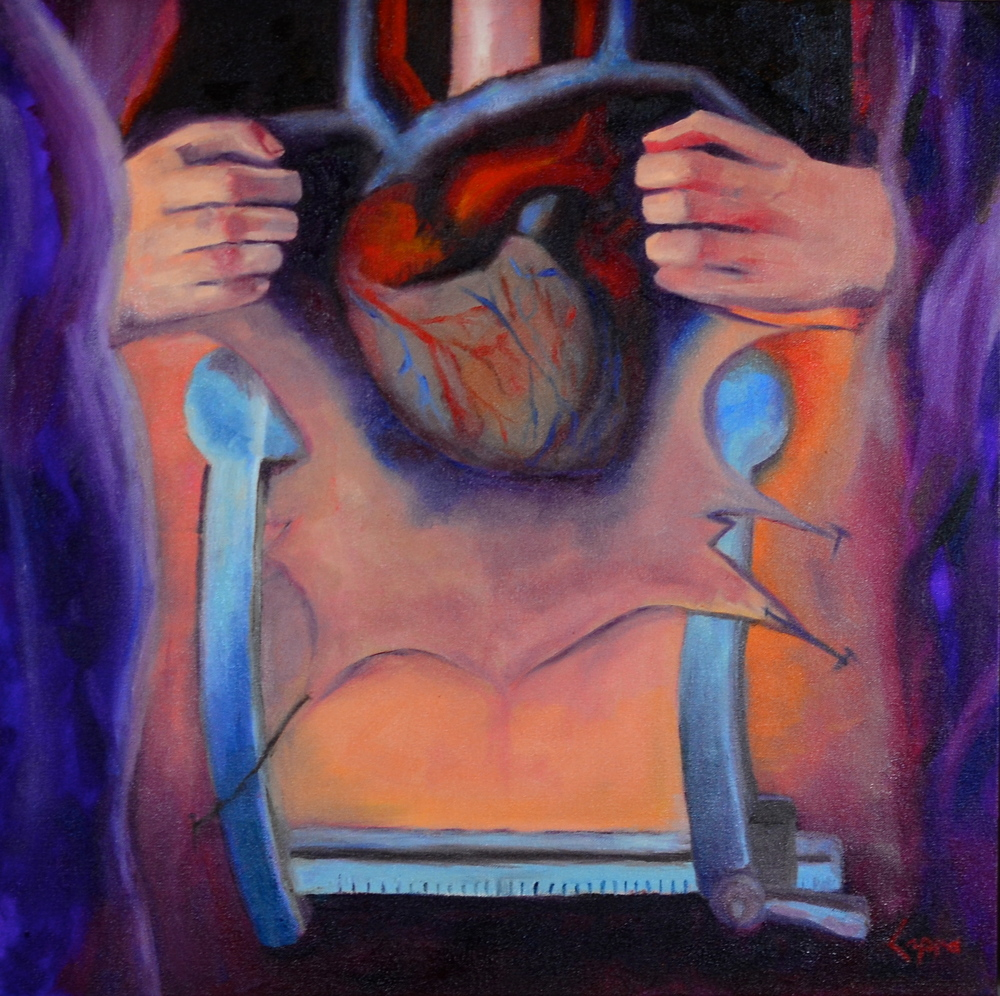 Rend, Restore, Revive My Heart   24x24  oil painting  $480.00