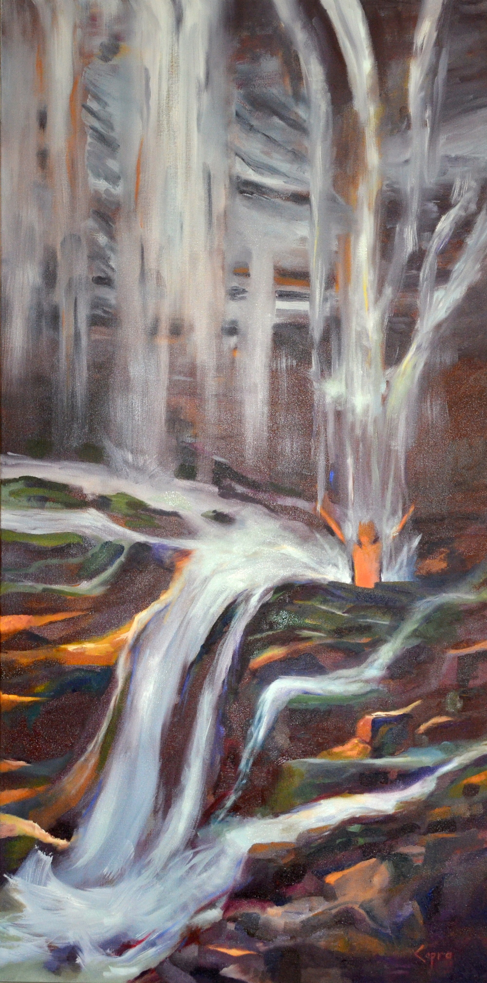 Worship   24x48  oil painting  $960.00