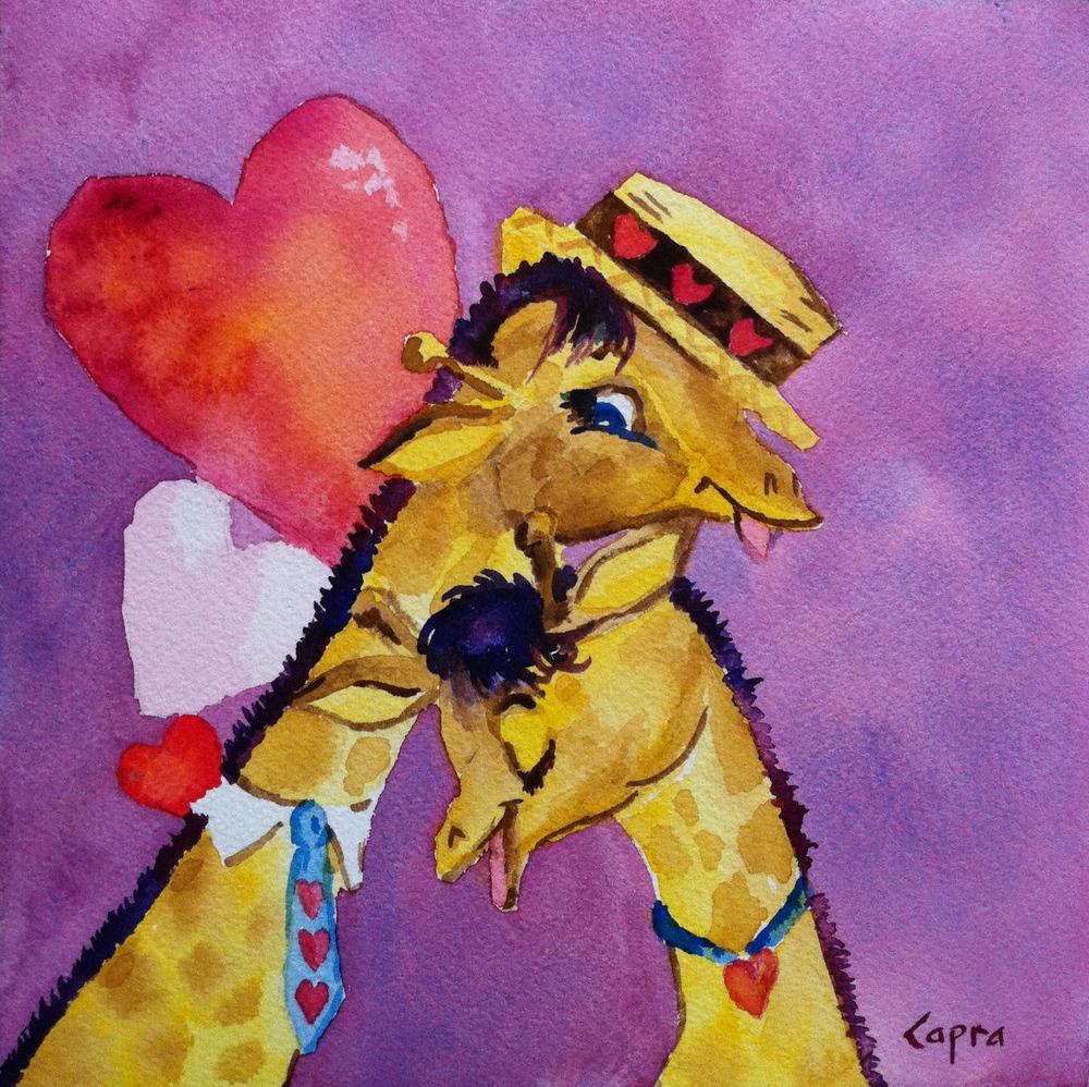 Vintage Valentine   watercolor  8x8