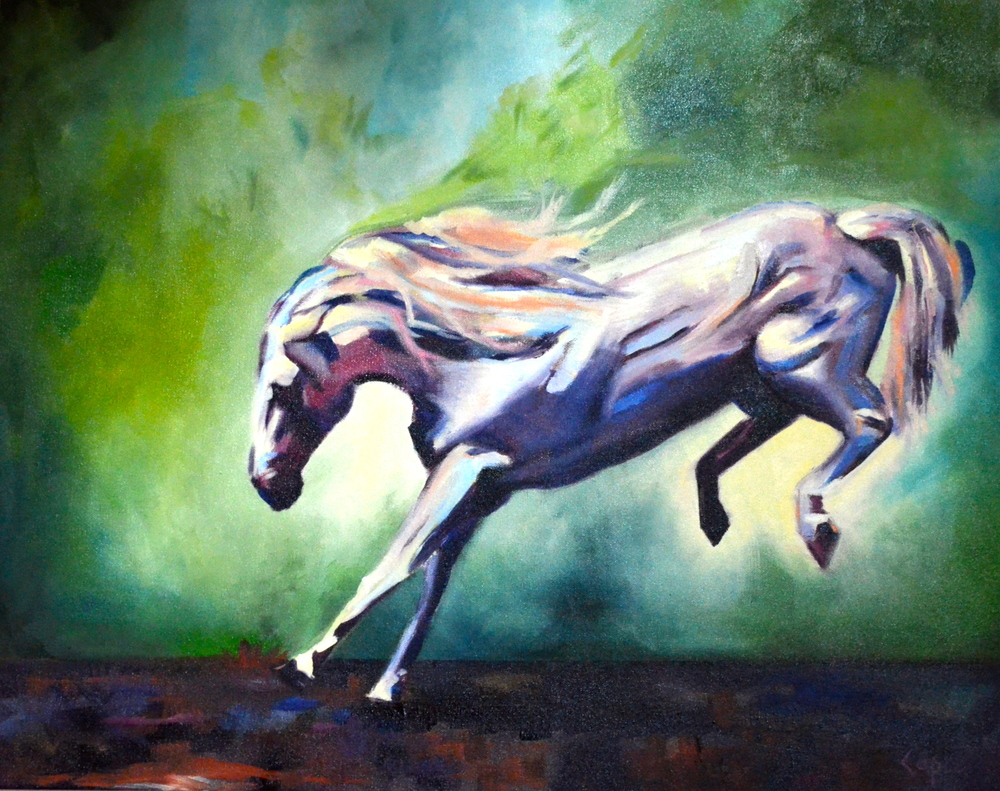 Righteous Confidence   24x30  oil painting  $600.00
