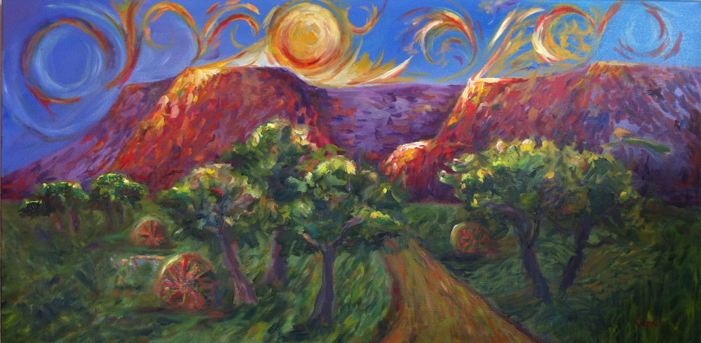 Heaven   24x48  oil painting  $960.00