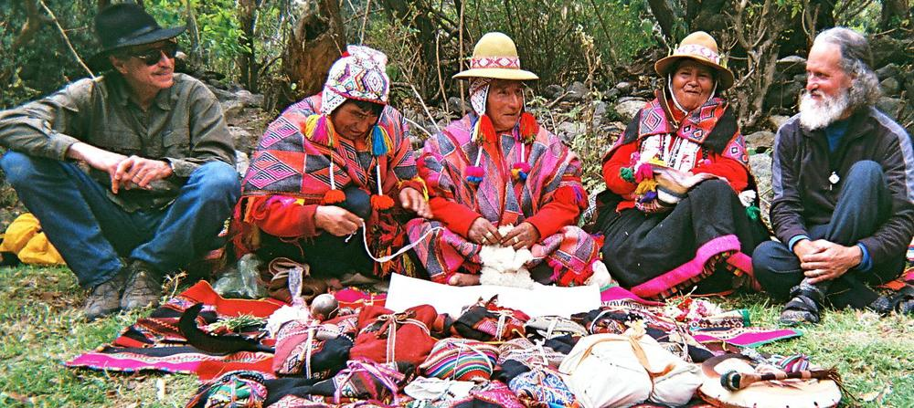 Stephen and Dr. Alberto Villoldo leading a Four Winds Expedition in the Andes with some of our beloved shamans.