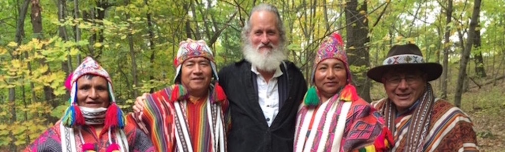 Stephen Feely with the Paqos from the Peruvian Andes welcome you to the way of the shaman as Earth Keepers and Peace Warriors.