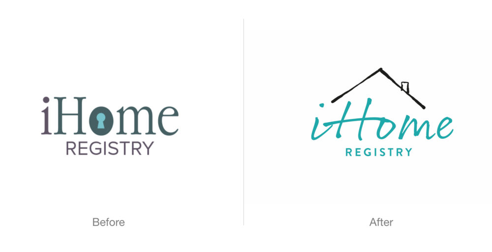 The 'before and after' that shows my award winning logo.