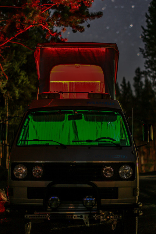 Custom LED light strips for your Vanagon! Photo credit to Chris Weber @ www.web.smugmug.com