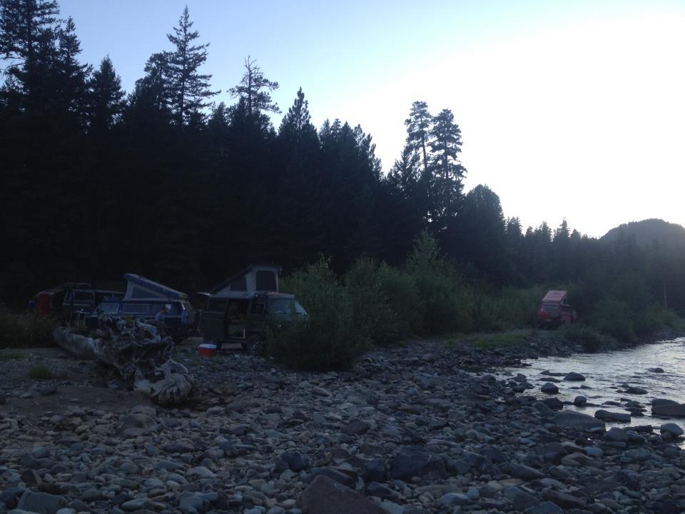 River camping