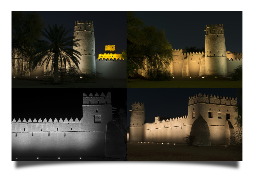 Images of Jahili Fort at night