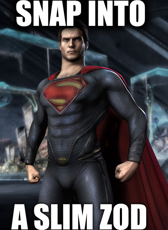 for $3 you can be henry cavill and keep snapping into zod forever and ever in mortal kombat komic kharacters .