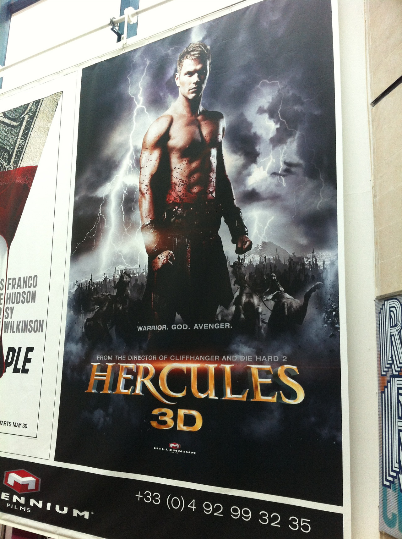 mattpatches :     Promo art for Kellan Lutz's 3D Hercules movie directed by Cutthroat Island director Renny Harlin. That looks about right.     renny!