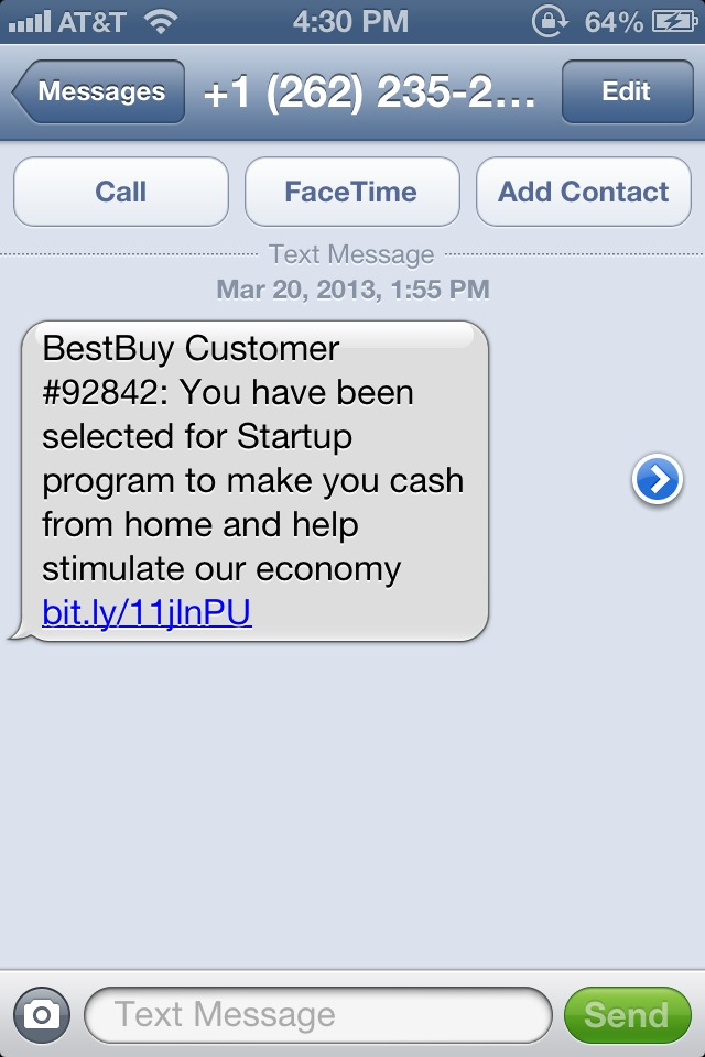 Finally, best buy will save the economy. Now to provide them with my important information that isn't phishing