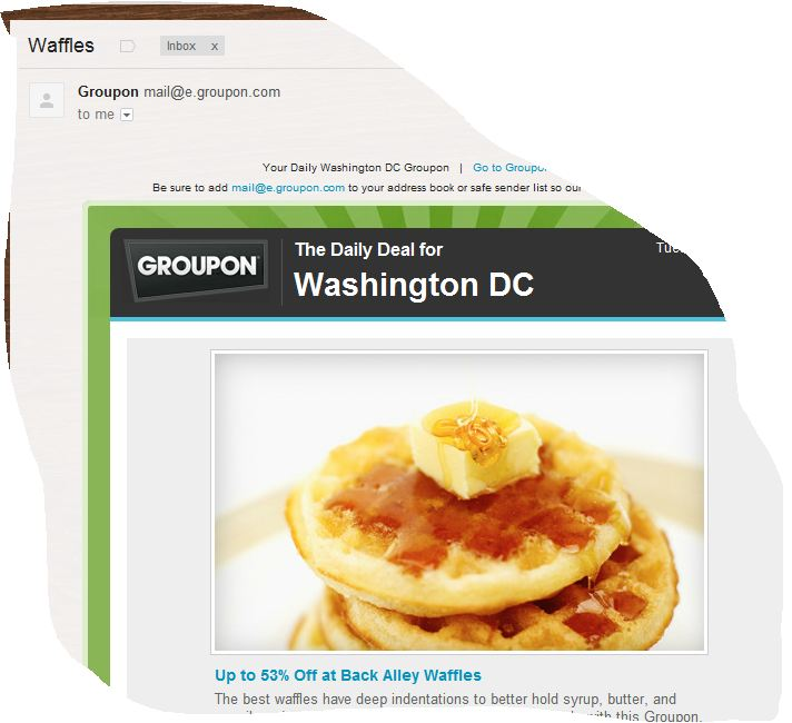 you're not even trying anymore, Groupon.
