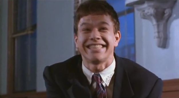 before leonardo dicaprio was in django unchained, he was in the basketball diaries.   and so was a grinning mark wahlberg.