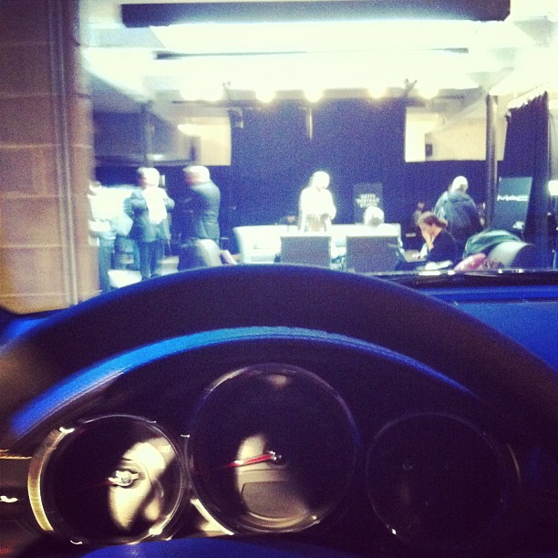 Behind the wheel in a press lounge  (Taken with  instagram )