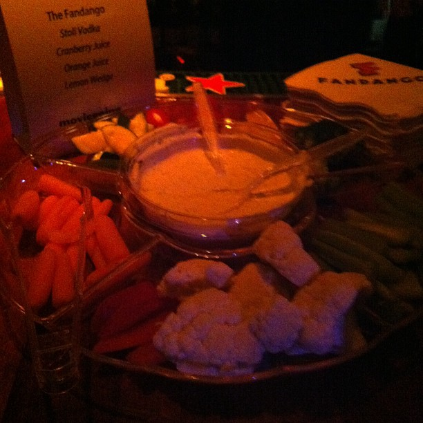 All out at Tribeca awards bar food.  (Taken with  instagram )